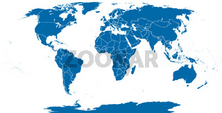 Welt politische Lankarte outline