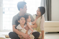 Asian family indoor portraits
