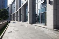 empty footpath near modern building