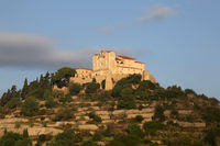 Arta Mallorca Balearen Kirche Spanien abends Nahaufnahme