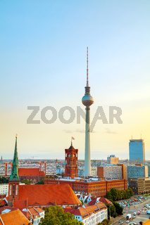 Aerial overview of Berlin