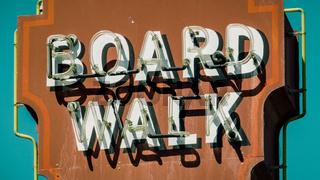 Retro Boardwalk Sign
