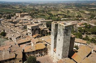 Zwillingstürme Ardinghelli in San Gimignano, Toskana, Italien