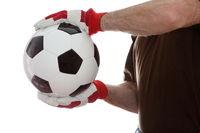 Fußball halten