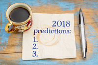2018 predictions list on napkin