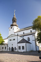 View of St Mary Cathedral (Dome Church) on Toompea Hill in old Tallinn