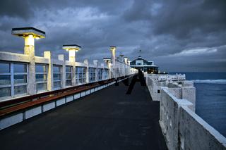 Pier in Blankenberge, Flandern, Belgien