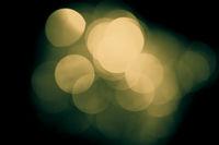 Vintage blurred lights, bokeh effect.