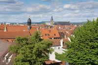 Blick über die Dächer von Bamberg, Deutschland, Europa