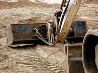 Bagger auf der Baustelle