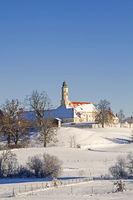 Kloster Reutberg  im Winter