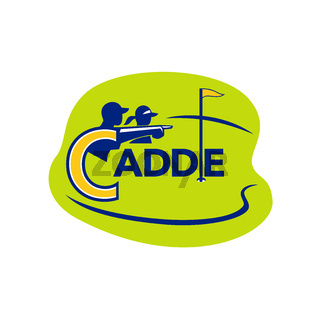 Caddie and Golfer Golf Course Icon