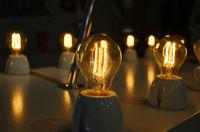 Retro  bulb light in night