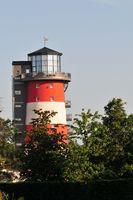 Leuchtturm Europapark bei Restaurant Ammolite