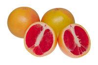 Fresh grapefruits isolated on a white background