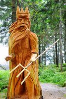 Mummelsee Holzskulptur Mummelseegeist Schwarzwald.jpg