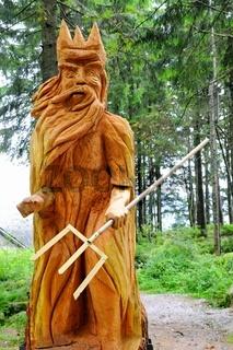 Mummelsee Holzskulptur Mummelseegeist Schwarzwald