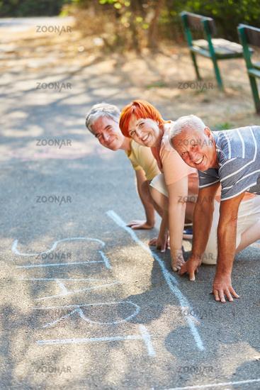 Glückliches Team Senioren am Start