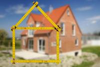 Meterstab und Hausbau