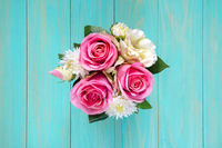 Artificial flowers,top view