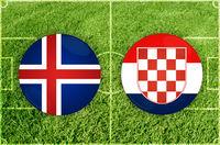 Iceland vs Croatia football match