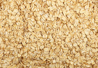 Porridge oat grits close up background