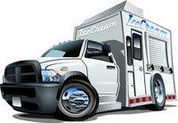 Cartoon ice cream truck