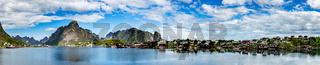 Panorama Lofoten archipelago islands