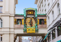 Ankeruhr Clock in Hoher Markt - Vienna Austria