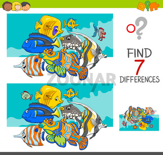find differences with fish animal characters