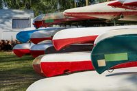Canoes in a camp