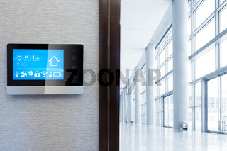 smart screen with smart home with modern hall