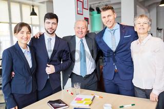 Erfolgreiches Business Team mit Chef