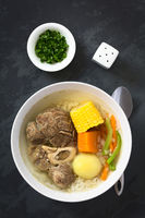 Chilean Cazuela de Vacuno or Carne, Beef Soup