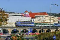 Schnellzug in Usti nad Labem (Tschechien)