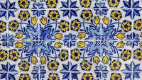 Azulejos, barocke bemalte Keramikfliesen am Rathaus in Funchal