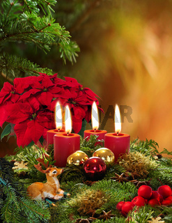 Adventskranz/Advent wreath