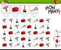 how many tools and objects counting game
