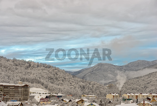 Sochi winter mountain resort