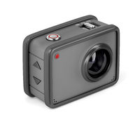 Action camera on white