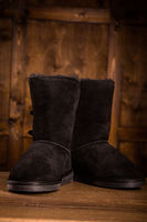 Pair of black winter boots.