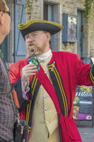 Town Crier Dressed In Red, Quebec City, Canada