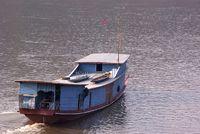 Flussschiff auf dem Mekong