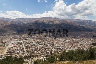 Aerial View of Huaraz, Peru