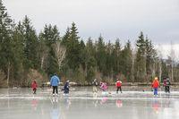 Freizeitvergnügen Eislaufen
