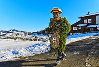 Naturchlaus geht am Alten Silvester, Silvesterchlausen in Urnäsch, Schweiz