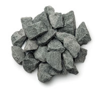 Top view of crushed granite