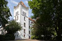 Seitenturm am Auricher Schloß in Ostfriesland