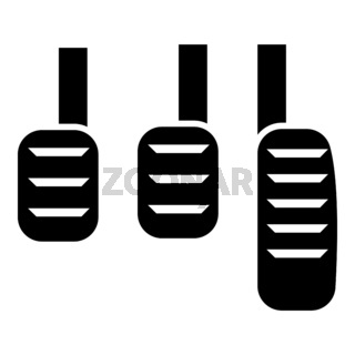 Pedal icon black color illustration flat style simple image