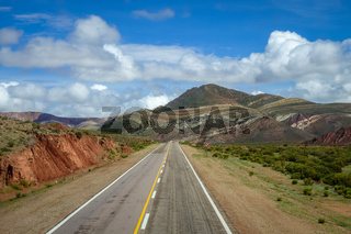 Desert road in north Argentina quebrada